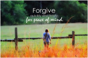 Forgive for peace of mind